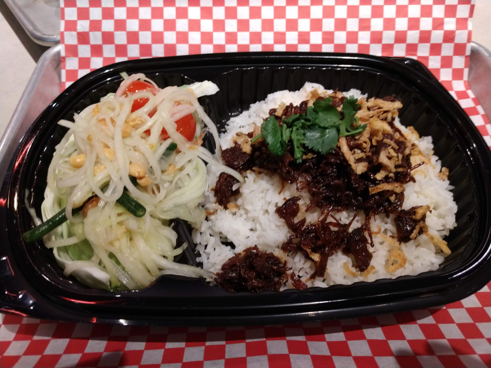 Pok Pok Wing Sweet Pork Over Coconut Rice
