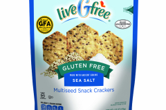 LiveGfree Gluten Free Multi Seed Crackers Assorted Varieties Sea Salt