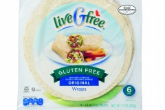 LiveGfree Gluten Free Wraps Plain