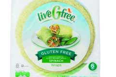 LiveGfree Gluten Free Wraps Spinach