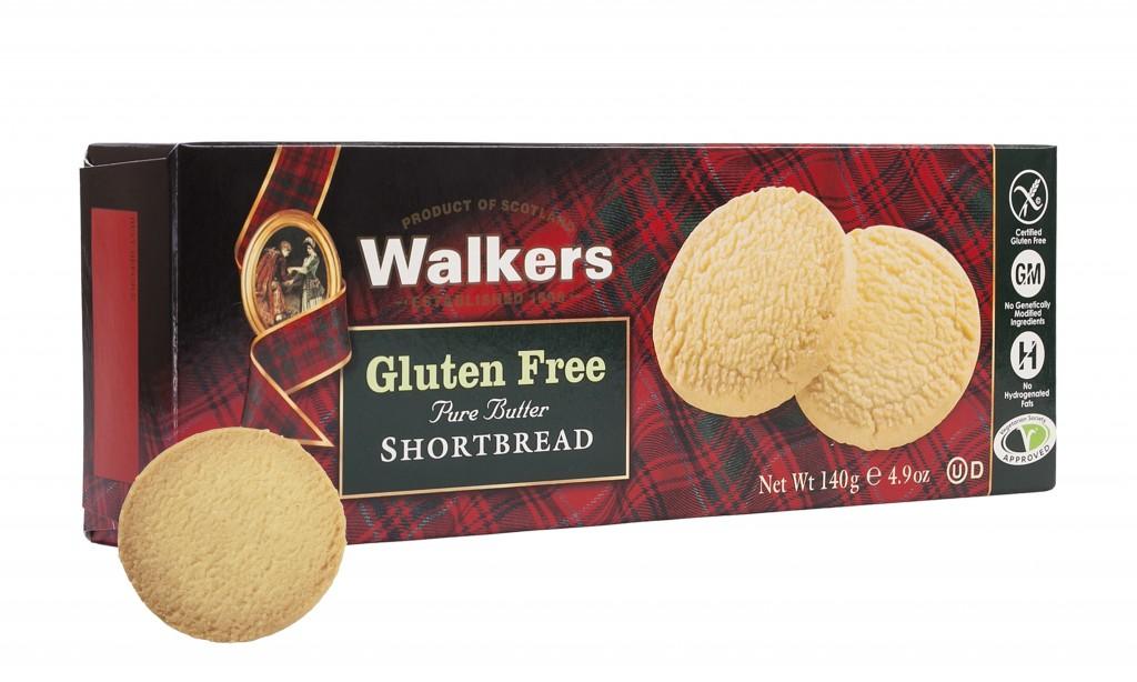 Walkers Shortbread Gluten Free Shortbread product + pack