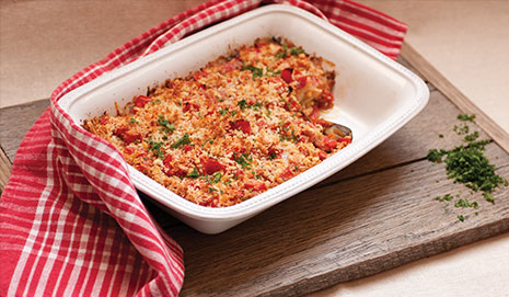 Ratatouille casserole from farm fresh veggies